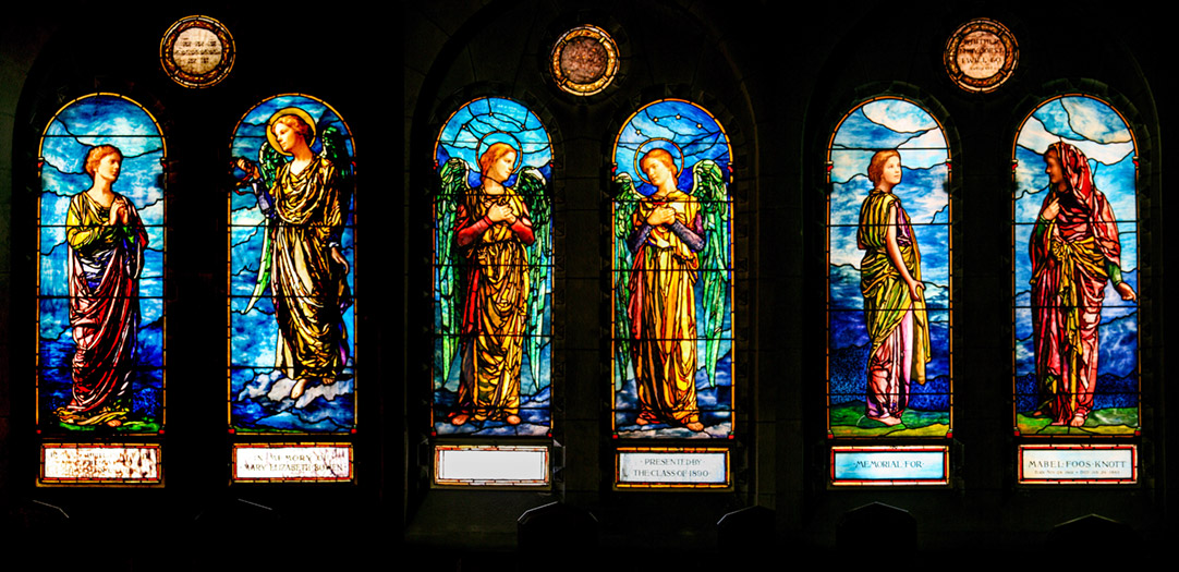 Tiffany and Dodge Commemorative Windows in the Chapel