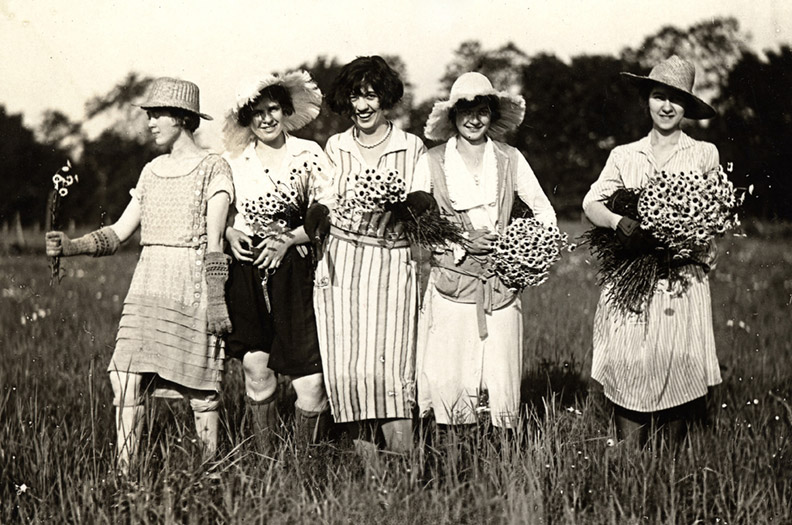 Picking Daisies for the Daisy Chain in the 1930s