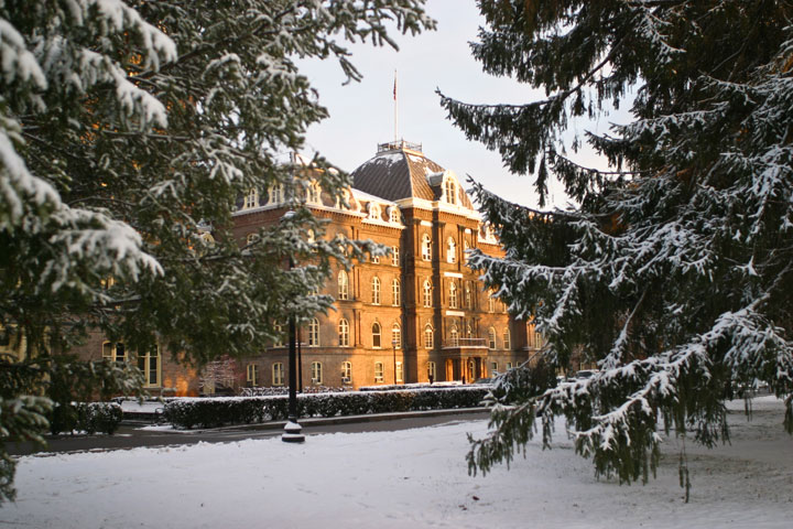 Main Building in Winter