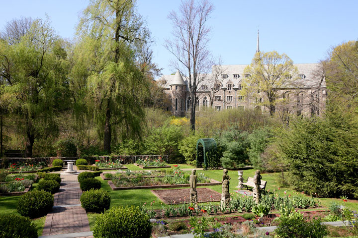 Shakespeare Garden in Early Spring
