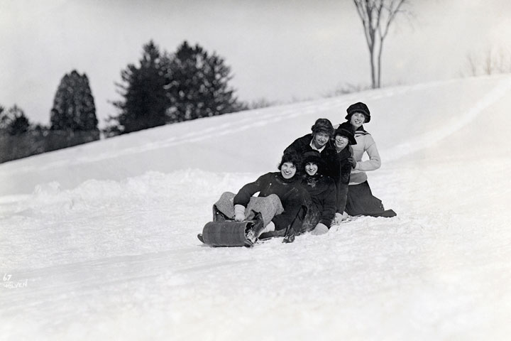 Sunset Hill Sledding, c.1920s